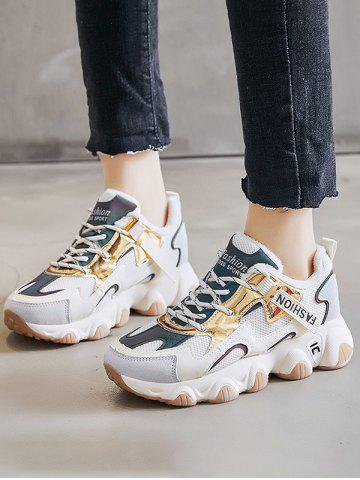 Colorblock Casual Fluffy Sports Sneakers