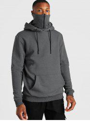 Pullover Zip Design Fleece Hoodie -