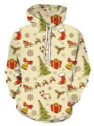 Christmas Pattern Front Pocket Hoodie -