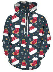 Christmas Stocking Hat Front Pocket Hoodie -