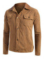 Button Up Ribbed Corduroy Jacket -