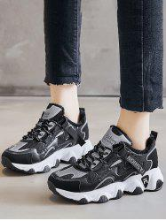 Colorblock Casual Fluffy Sports Sneakers -