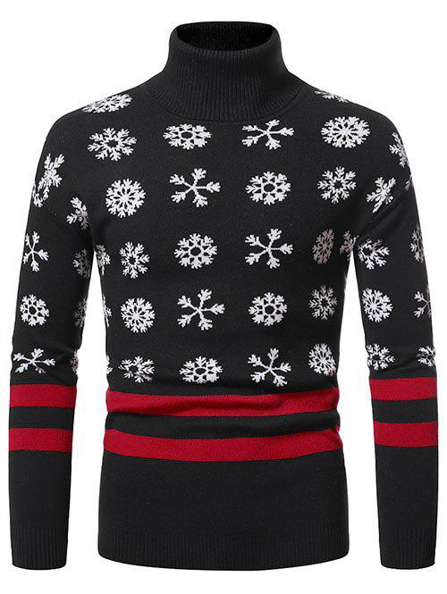 Hot Christmas Snowflake Pattern Turtleneck Sweater