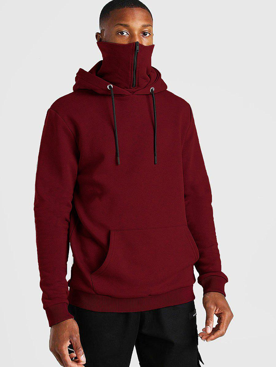 Shops Pullover Zip Design Fleece Hoodie