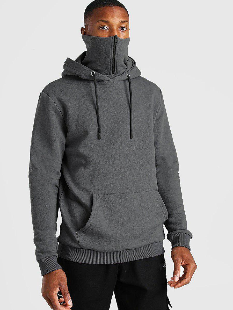 Fancy Pullover Zip Design Fleece Hoodie