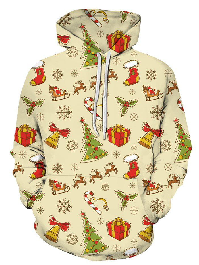 Online Christmas Pattern Front Pocket Hoodie