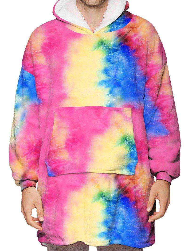 Buy Tie Dye Galaxy Print Fleece Blanket Hoodie