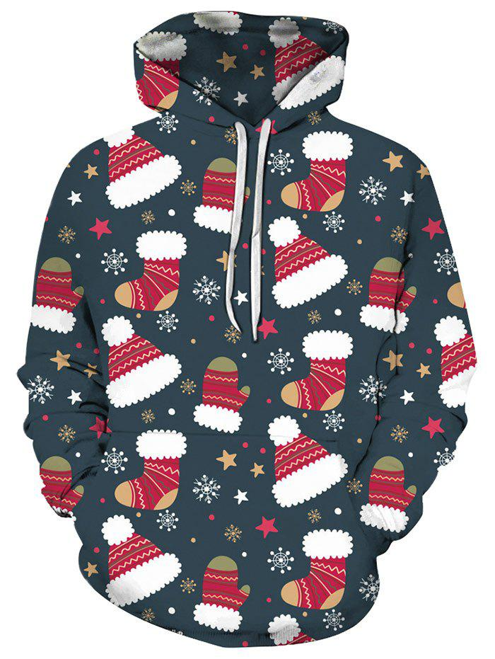 Online Christmas Stocking Hat Front Pocket Hoodie