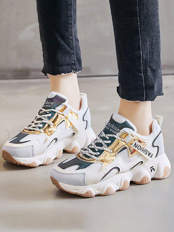 Shops Colorblock Casual Fluffy Sports Sneakers