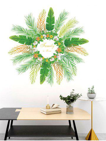 Family Leaves Wreath Print Decorative Wall Art Stickers