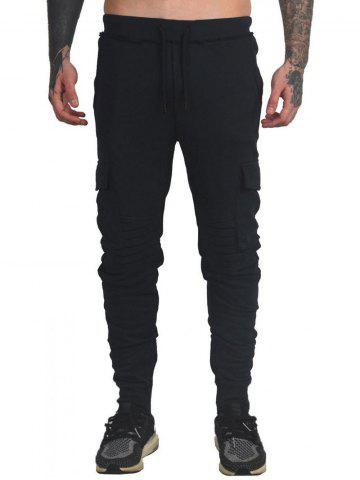 Drawstring Ruched Tapered Sports Pants