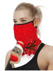 Christmas Patterned Riding Face Mask Scarf -