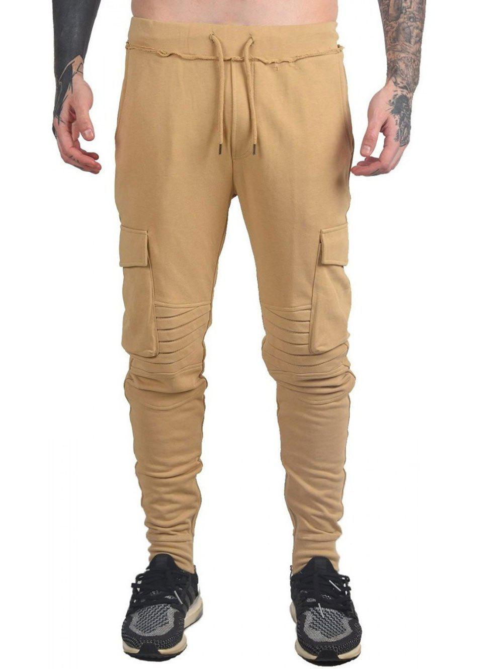 Buy Drawstring Ruched Tapered Sports Pants