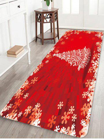 Christmas Tree Print Home Decoration Floor Mat - RED - W24 X L71 INCH