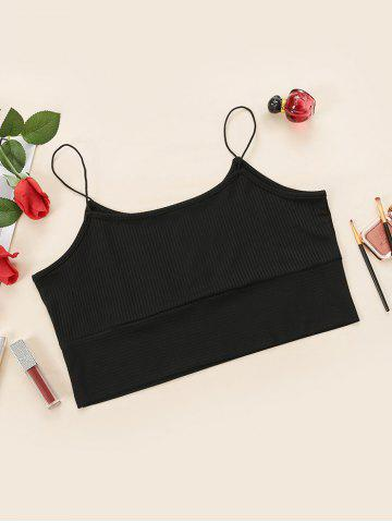 Plus Size Bungee Strap Ribbed Cropped Cami Top