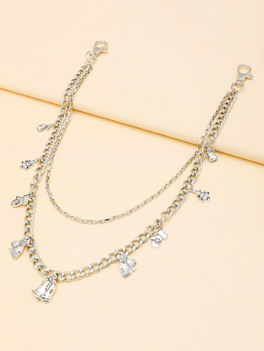 Affordable Christmas Tree Gloves Pendant Layered Trousers Chain