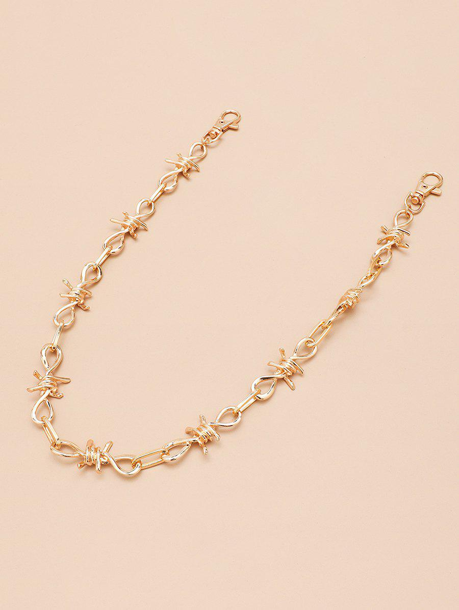 Affordable Hollow Twist Knot Design Trousers Chain