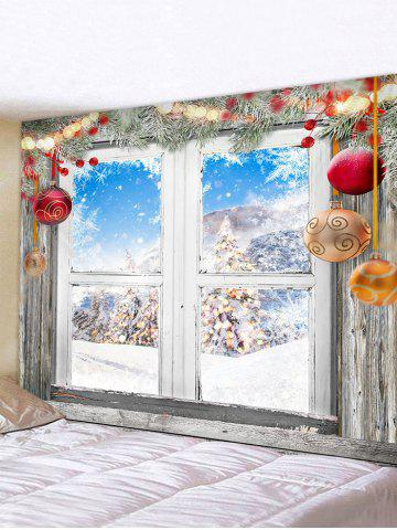 Christmas Print  Waterproof Tapestry - MULTI - W91 X L71 INCH