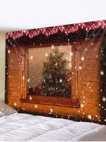 Christmas Fireplace Printing Waterproof Wall Tapestry - MULTI - W59 X L51 INCH