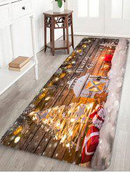 Christmas Wooden Light Printing Floor Mat -