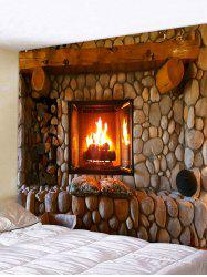 Retro Fireplace Printing Wall Tapestry -