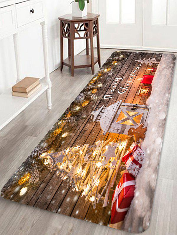 Hot Christmas Wooden Light Printing Floor Mat