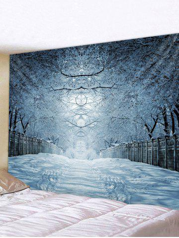 Snow Forest Avenue Print Tapestry Wall Hanging Art Decor - MULTI - W91 X L71 INCH