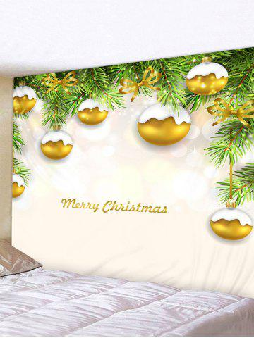 Christmas Tree Balls Print Tapestry Wall Hanging Art Decoration - MULTI - W91 X L71 INCH