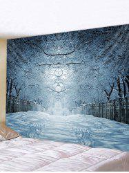 Snow Forest Avenue Print Tapestry Wall Hanging Art Decor -