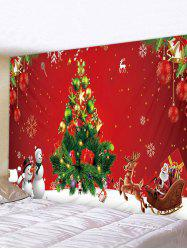 Snowman Christmas Tree Printed Waterproof Tapestry -