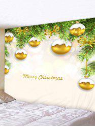 Christmas Tree Balls Print Tapestry Wall Hanging Art Decoration -