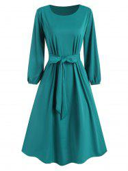 Pocket Belted Midi Dress -