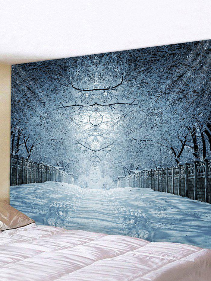 New Snow Forest Avenue Print Tapestry Wall Hanging Art Decor