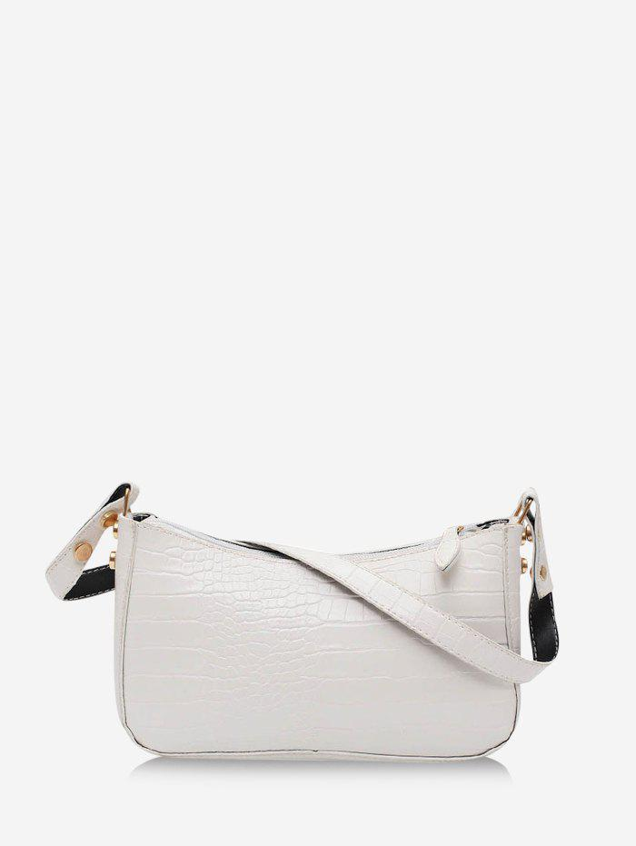 Shop French Style Solid Rectangle Shoulder Bag