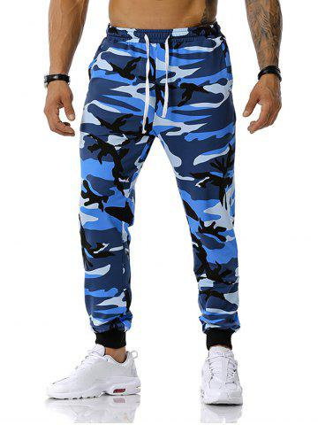 Camouflage Pattern Drawstring Sports Pants