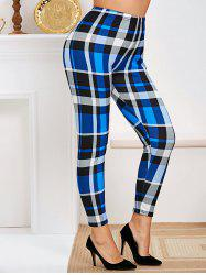 Plus Size High Rise Plaid Tapered Pants -