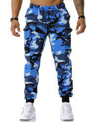 Zipper Pockets Camouflage Print Cargo Pants -