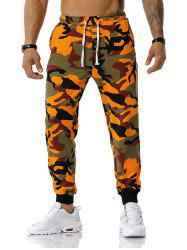 Camouflage Pattern Drawstring Sports Pants -