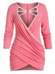 Plus Size O Ring Strappy Crossover T Shirt -