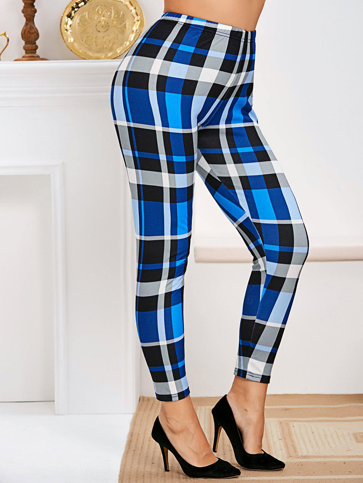Shop Plus Size High Rise Plaid Tapered Pants