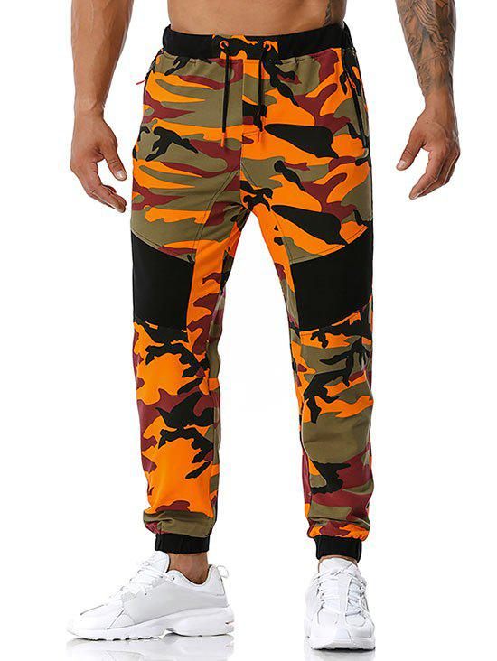 Hot Zipper Pockets Camouflage Print Sports Pants