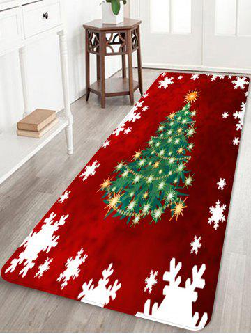 Decor Christmas Tree Snowflake Rug