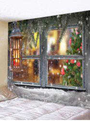 Christmas Pattern Snow Scene Tapestry -