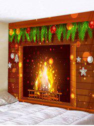 Fireplace Printed Christmas Decoration Wall Tapestry -
