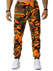Drawstring Camouflage Print Jogger Cargo Pants -