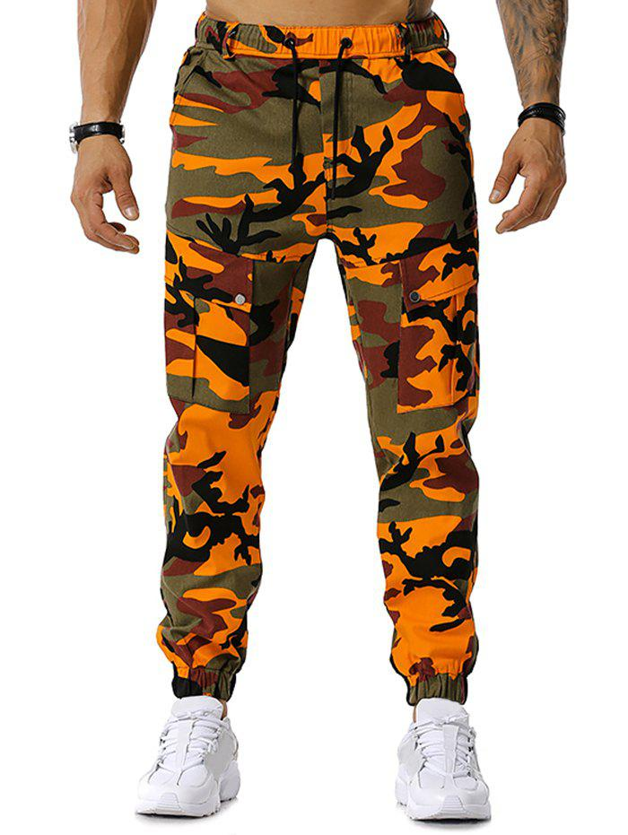 Outfits Drawstring Camouflage Print Jogger Cargo Pants