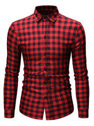 Button Up Plaid Printed Casual Shirt -