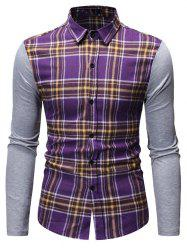 Button Up Plaid Print Casual Shirt -