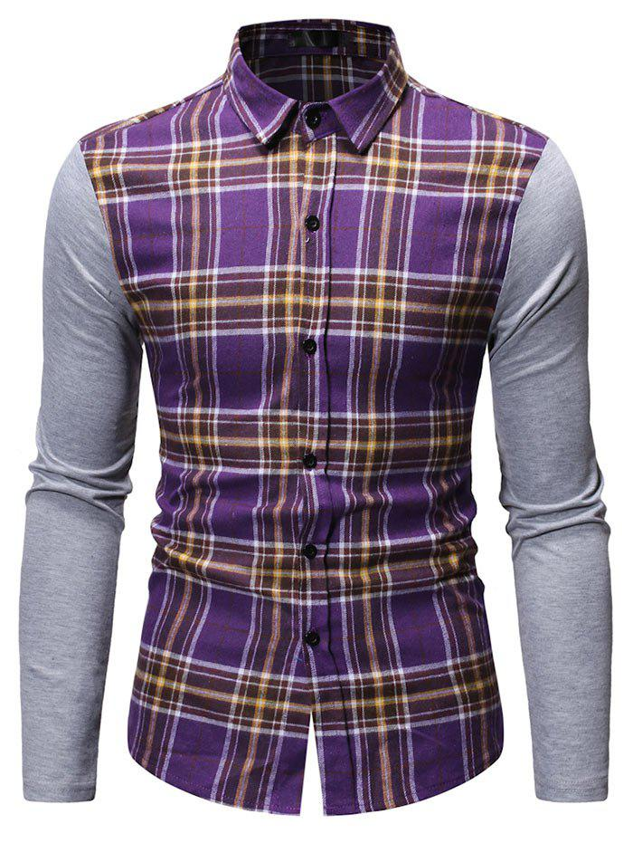Best Button Up Plaid Print Casual Shirt