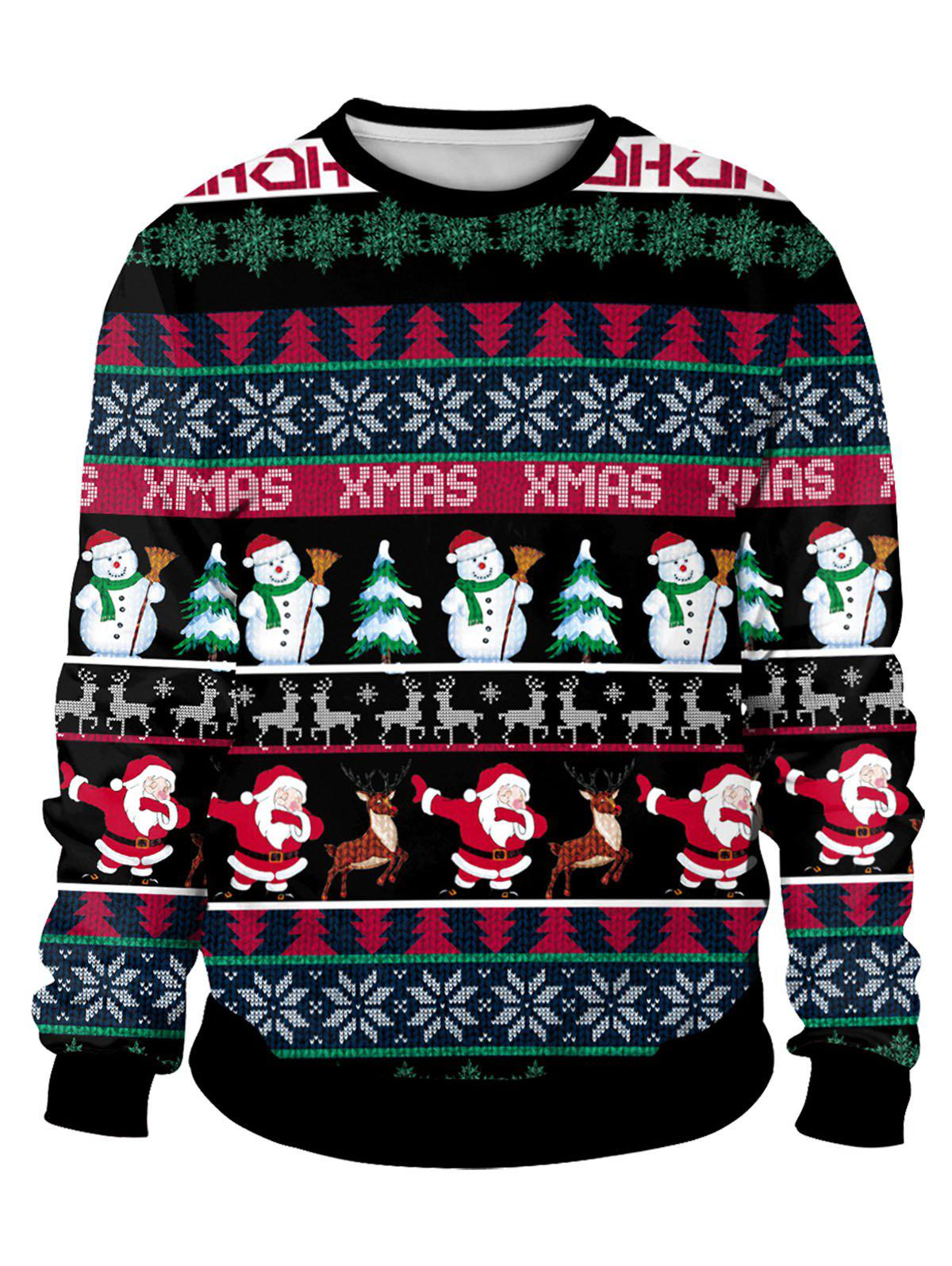 Shops Christmas Allover Pattern Sweatshirt